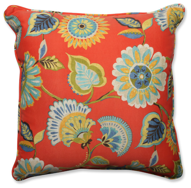 Orange Floor Pillows : Woodcourt Pompeii 25