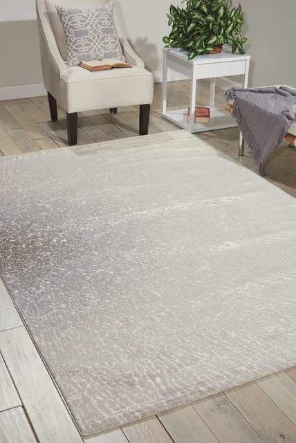 Nourison Twilight Ivory/Gray Area Rug, Rectangular 12'x15'