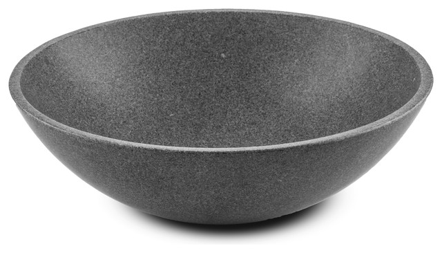 Cp Gray Round Vessel Sink Above Counter Sink Lavatory For