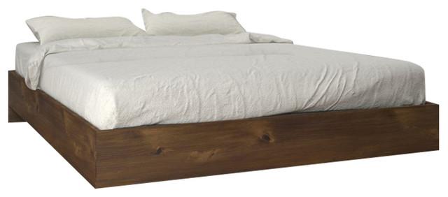 Tolva Platform Bed, Truffle, Full.