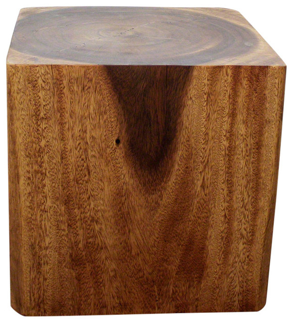 Haussmann Eco Wood Cube End Coffee Table 18 X In High Livos Walnut Oil