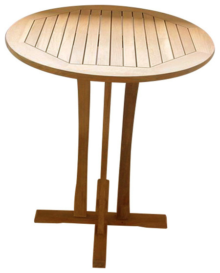 Teak Bar Table 36 Round Grade A Transitional Outdoor Pub And Bistro Tables By Atlanta Furniture