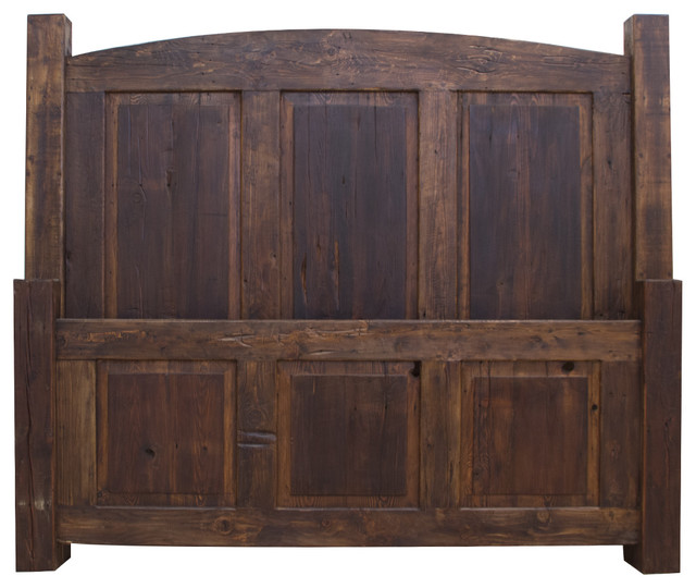 Reclaimed Wood Bed 63356, King.