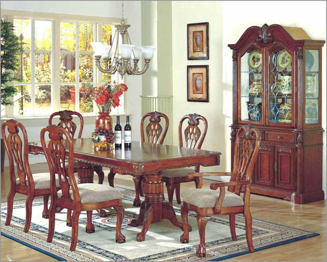 McFerran Home Furnishings - 7pc Formal Dining Room Set in ...