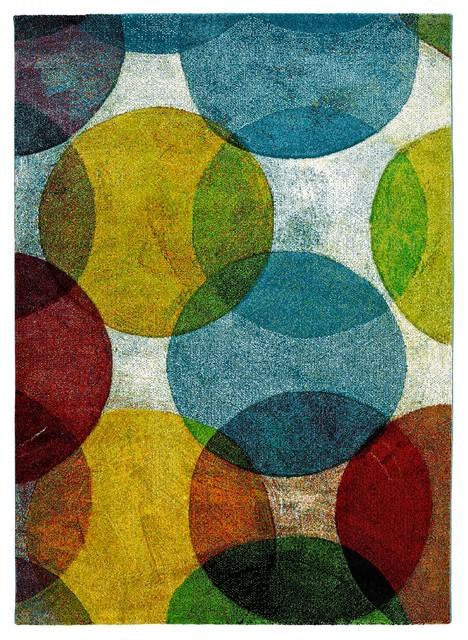Naia Multicolour Circles Rug, 160x230 cm