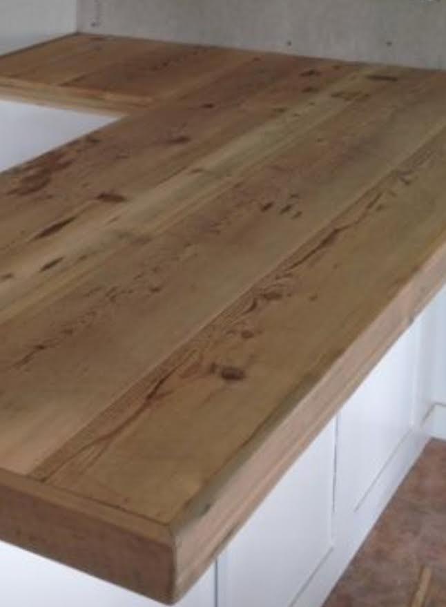 Heart Pine Countertop
