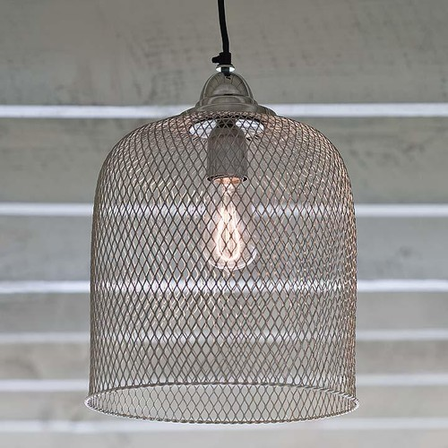 What an unusual pendant! Is the wire mesh over glass, or just wire?