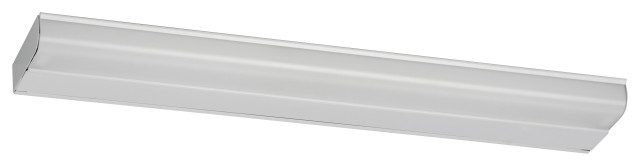 "T8 Fluorescent Undercabinet Lighting T8, 48"", No Switch, White Finish"