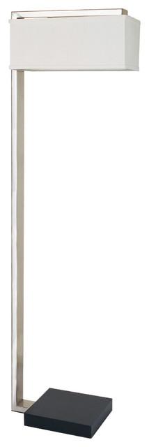 Sloan Modern 62&x27;&x27; Floor Lamp With Rectangular Shade, Silver.