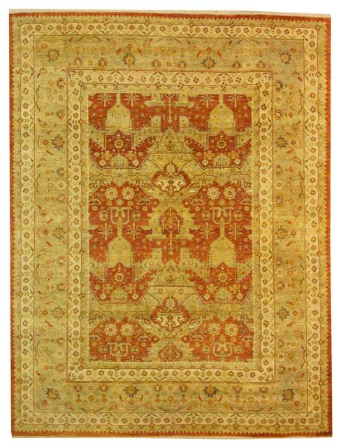 8 11x11 8 Handmade Luxury Agra Mahal Rug Mediterranean