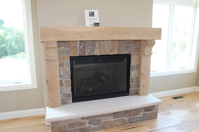 oak mantle fireplace surround