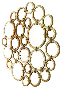Modern Gold Circle Wall Art Mirrored Rings Metal Contemporary Contemporary Metal Wall Art By My Swanky Home