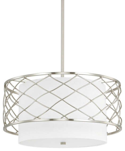 Capital Lighting Sawyer Brushed Nickel Urban Pendant W/ 3 Light 60w - 4833bn-612.
