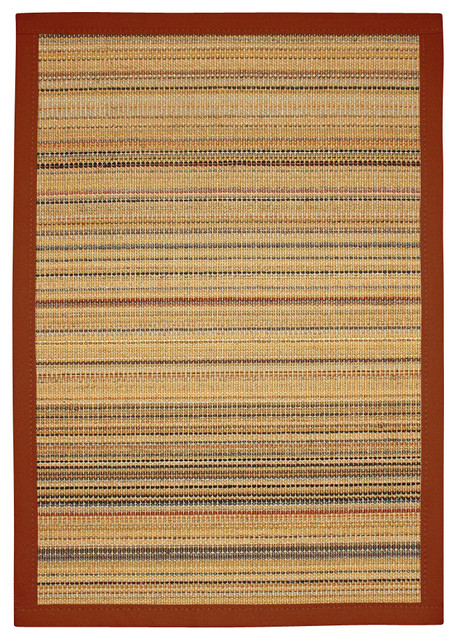 Quot Resort Quot Sisal Rug Red Cotton Border Transitional