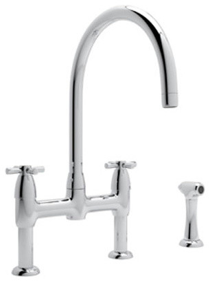 Perrin and Rowe Bridge Kitchen Faucet in Polished Chrome