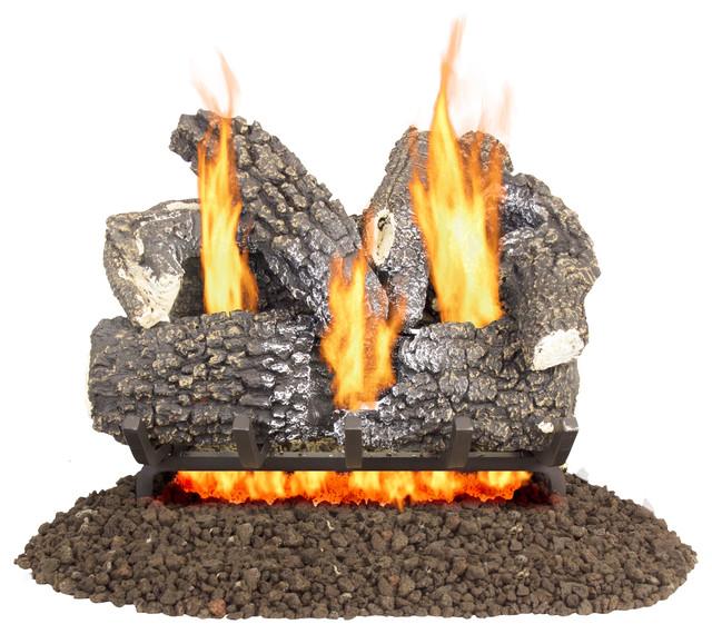 "Pleasant Hearth Arlington Ash Vented Gas Log Set 45,000 Btu&x27;s, 18""."