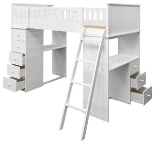 ACME Furniture Willoughby Loft Bed, White