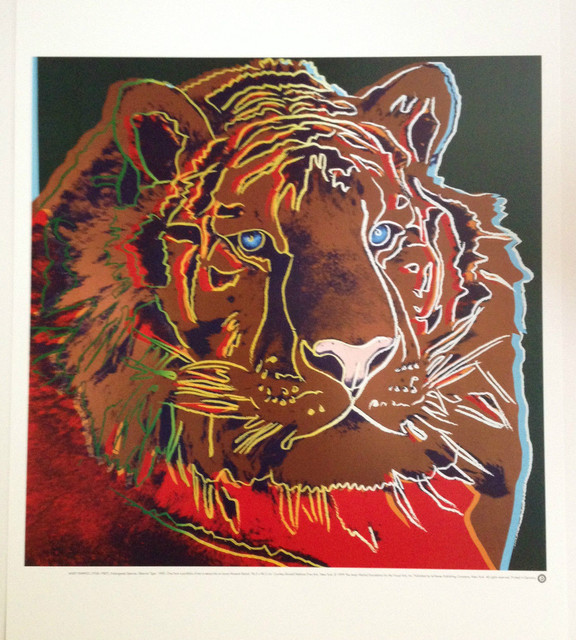 """""""Endangered Species, Siberian Tiger"""" Lithograph By Andy"""