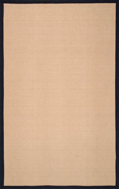 Hampton Reversible Jute Rug, Black Border, 8&x27;x10&x27;.