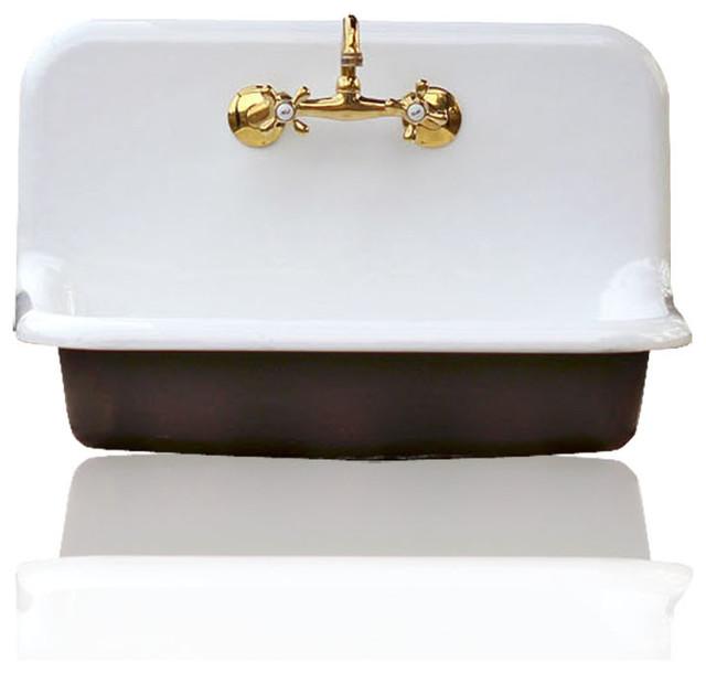 "30"" high back farm sink cast iron porcelain kitchen sink"