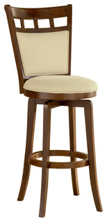 Jefferson Swivel Stool With Cushion Back, Bar Height