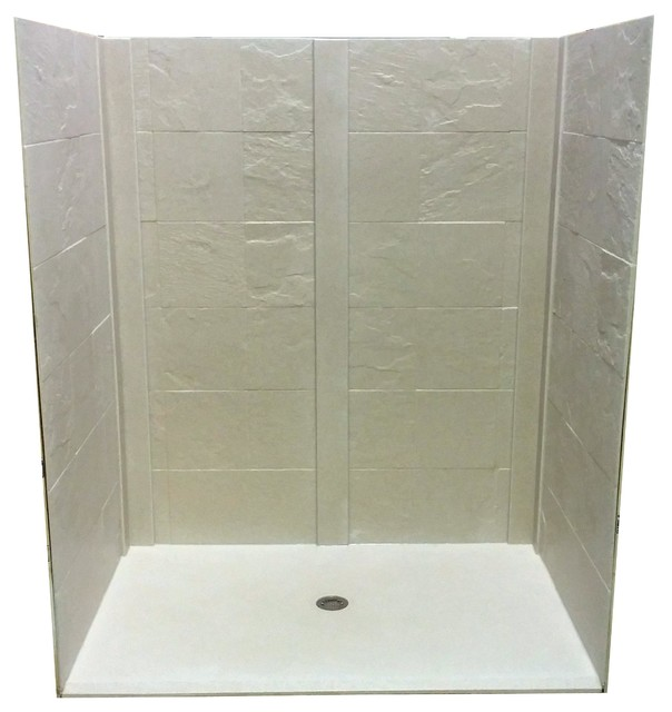 Everla-Stone Accessible Shower Kit - Traditional - Shower Stalls And ...