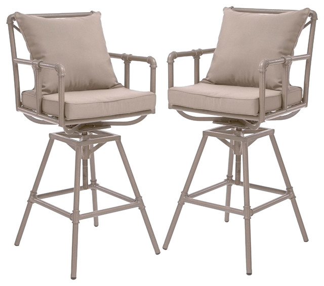 Tallahassee Outdoor Adjustable Height Swivel Bar Stools  : industrial outdoor bar stools and counter stools from www.houzz.com size 640 x 566 jpeg 63kB
