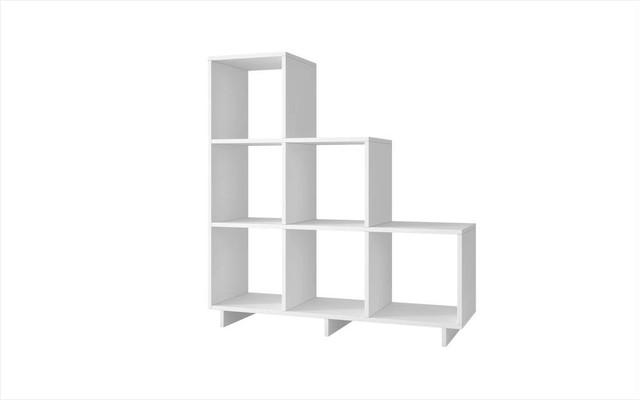 Cascavel Stair Cubbies - White