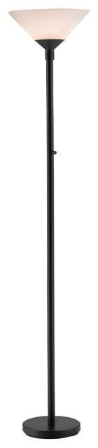 Adesso Aries Floor Lamp, Black.