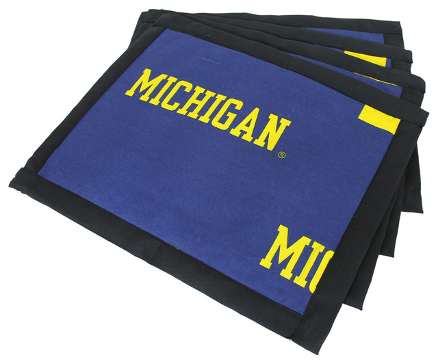 Michigan Wolverines Placemat With Border Set Of 4