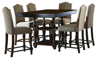 sc 1 st  Buying Guide & Homelegance Benwick 8-Piece Counter Height Table Set With Storage Base