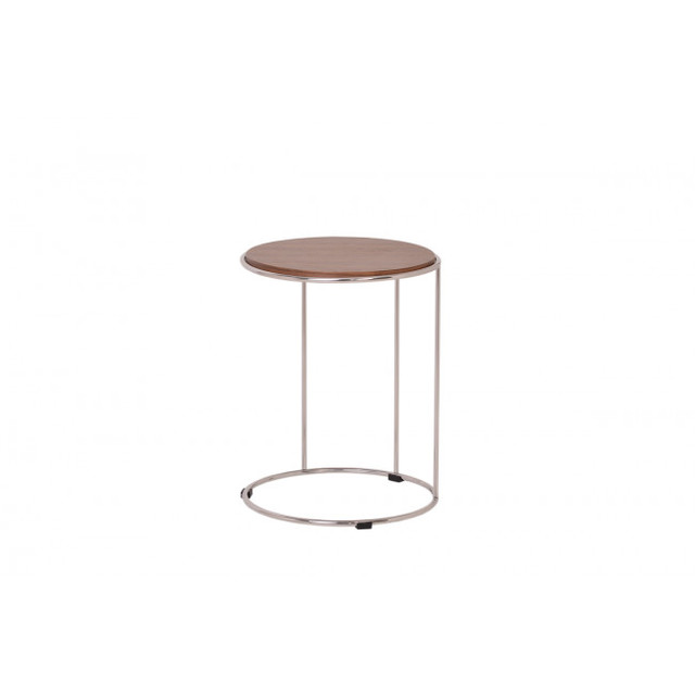 Contemporary Veneer Ocean Side Server Table, Walnut Contemporary Side Tables  And