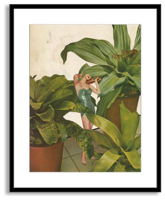 Beth Hoeckel's 'Foliage' Framed Paper Art, 25x30