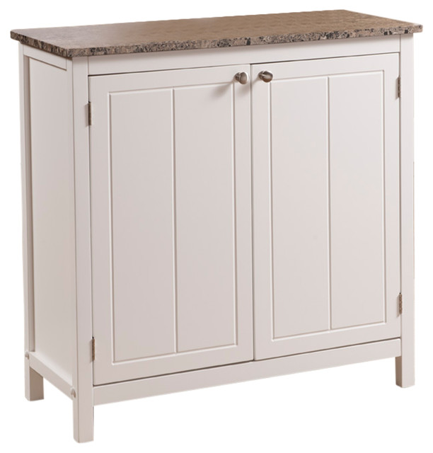 Elegant Bay   Buxton Marble Top Kitchen Island, White   Kitchen Islands And Kitchen  Carts