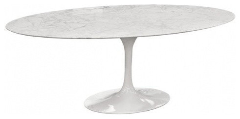 Saarinen Inspired Oval Marble Dining Table Midcentury Dining