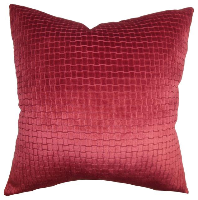 Brielle Solid Bedding Sham Red Euro Sham 26 X26