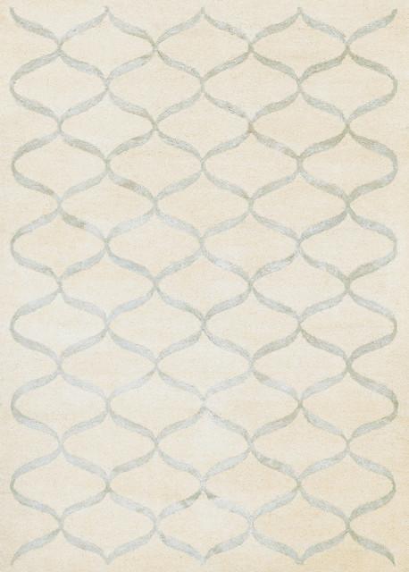 Couristan Amara Hera 5074 0012 Cream Silver Area Rug Contemporary Rugs