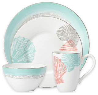Lenox Sandy Point 4-Piece Dinnerware Set Set of 8 - Beach Style - Dinnerware Sets - by Tableware Gallery  sc 1 st  Houzz & Lenox Sandy Point 4-Piece Dinnerware Set Set of 8 - Beach Style ...