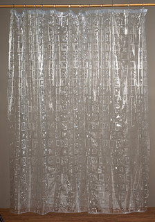 carnation home fashions geometric vinyl shower curtain