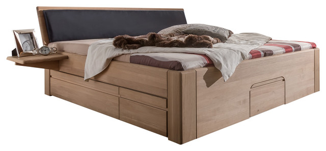 Jabo Furniture Multi N 92 Oak Bed With 2 Bedside Tables, Super King