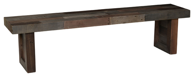 """Norman Reclaimed-Pine Bench, 71"""" by Kosas Home"""