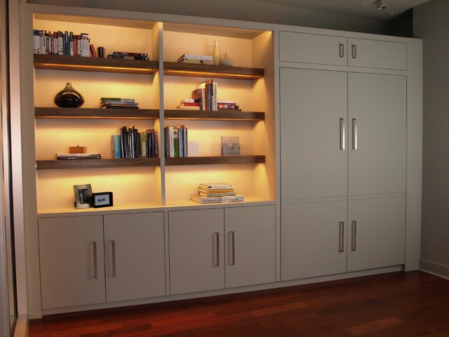 BOOKSHELF WITH MURPHY BED Contemporary