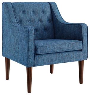 Noda Tufted Chair, Dark Blue