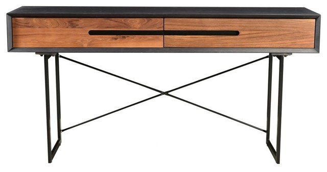 Awe Inspiring 60 W Faith Console Table Reclaimed Teak Doors Mango Wood Modern Steel Legs Inzonedesignstudio Interior Chair Design Inzonedesignstudiocom