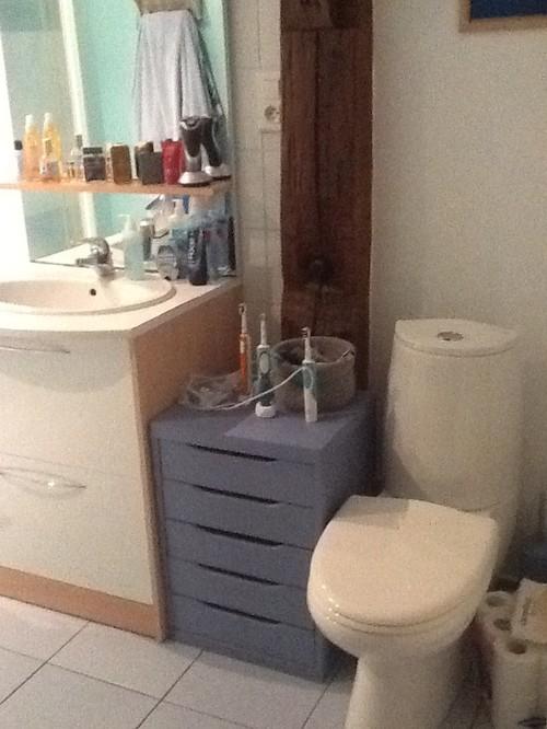 nous aimerions faire une douche litalienne mais dans quel sens sparer les toilettes par un petit muret et changer le carrelage merci pour vos ides - Separation Baignoire Wc