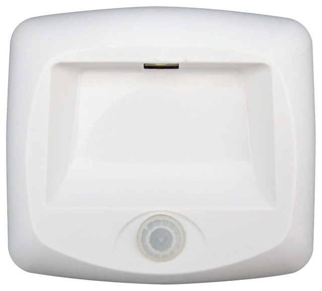 3-Aa Battery Operated Indoor Motion Sensing Led Stair Light, White.