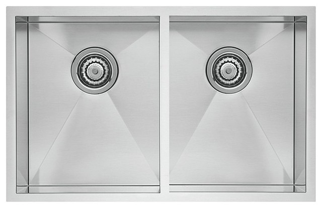 Blanco Quatrus R0 Stainless Steel Equal Double Bowl Undermount Sink.