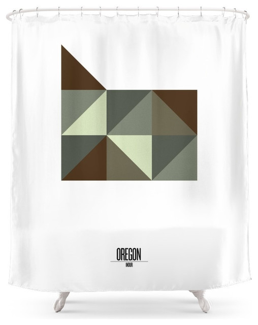 Geometric Oregon Shower Curtain Contemporary Shower Curtains By Society6