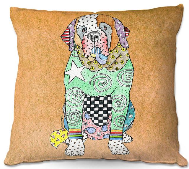 Dianoche Throw Pillows By Marley Ungaro Saint Bernard