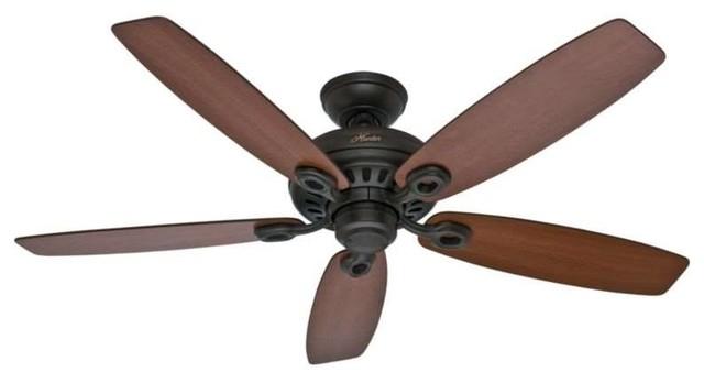 """Hunter Fans 54110 Markham 52"""" Ceiling Fan In New Bronze."""
